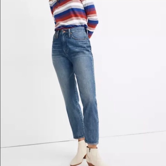 Madewell The Mom Jean, Denim Cropped Jeans